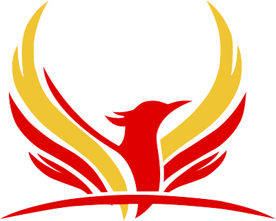 Логотип центра гимнастики Феникс